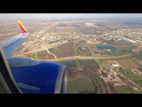 Southwest Airlines 737-700 Late Afternoon Landing At Dallas Love Field