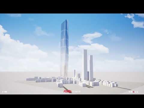 Render  Del Suspertall Torre FORZA De 460m De Altura En Bogotá, Colombia 2018