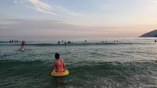 Пляж Дадунхай сегодня вечером остров Хайнань Китай