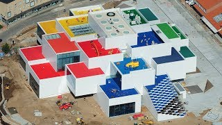 Lego unveils drone footage of BIG's Lego House