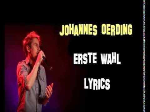 Johannes Oerding Lieder