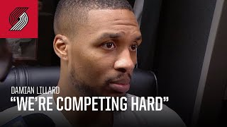 "Damian Lillard: ""Just not playing well enough to win games"" 