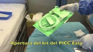 Gavecelt - impianto di PICC Easy usando pack di inserzione