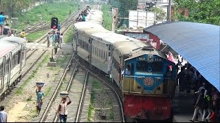 Chottola Express Train Entering Airport Railway Station