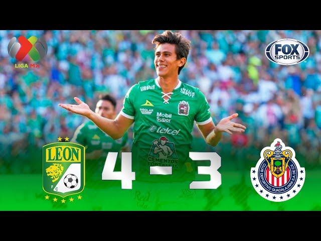 León - Guadalajara [4-3] | GOLES | Jornada 5 | Liga MX