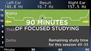 90 Minutes of Focused Studying: The Best Binaural Beats