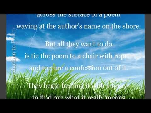 Introduction to Poetry (Billy Collins)
