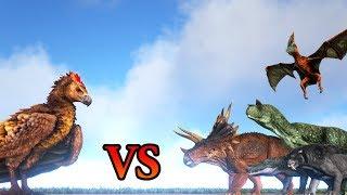 New Argentavis VS Sabertooth, Carno, Trike & more ARK Dinosaurs || Cantex