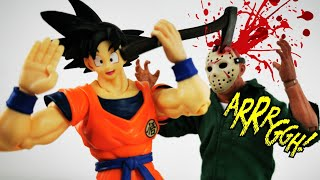 Stop Motion JASON VOORHEES VS Anime Guys Especial Halloween Review Action Video DibujAme Un