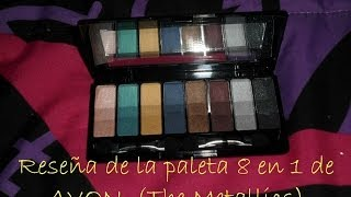 Shadows palette true color 8 in 1 AVON (The Metallics)
