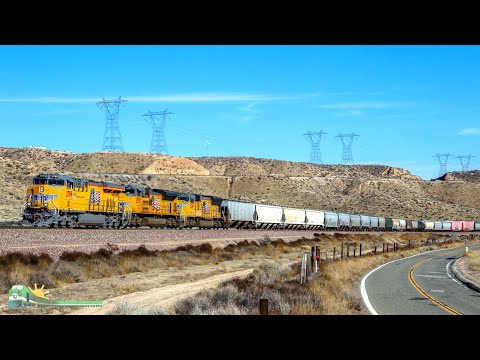 TRAINS on Parade!  High above Cajon!