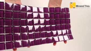 Glass Mosaic Tile Backsplash Purple 1x1 - 101CHIGLABR142