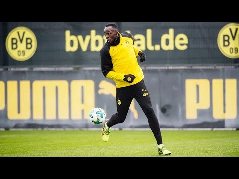 Usain Bolt's Full Training Session with Borussia Dortmund! | #BVBolt