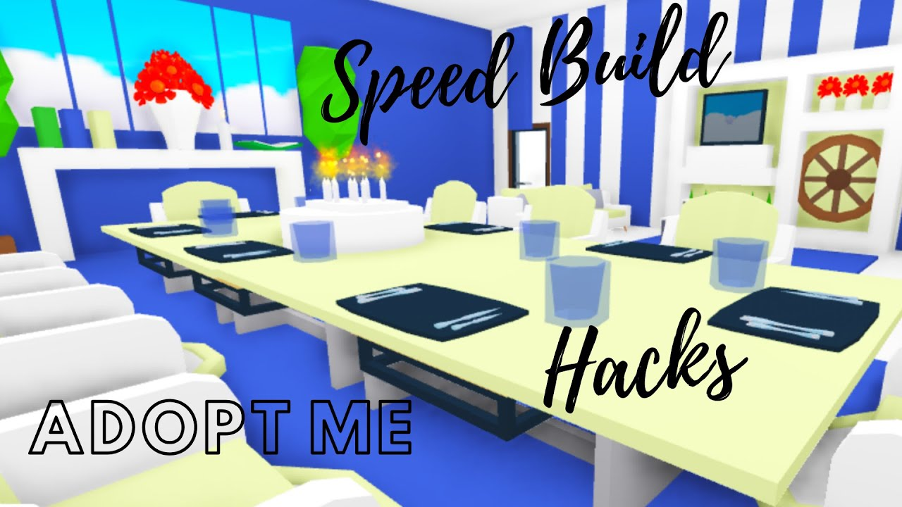 Adopt Me Building Hacks Adopt Me Speed Build Adopt Me Dining