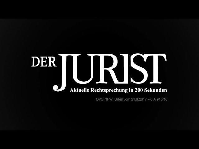 OVG NRW, Urteil vom 21. September 2017: Mindestkörpergröße für Polizeibewerber