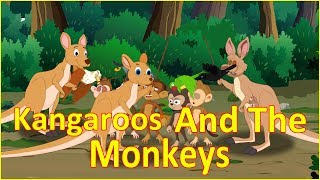 Kangaroos And The Monkeys | Panchatantra Moral Story | English Cartoon | Maha Cartoon TV English