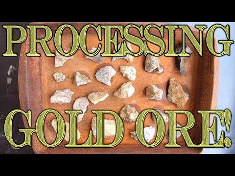 Gold Prospecting At Home #26 - Processing 1lb Of GOLD ORE From Prestige Minerals On Amazon