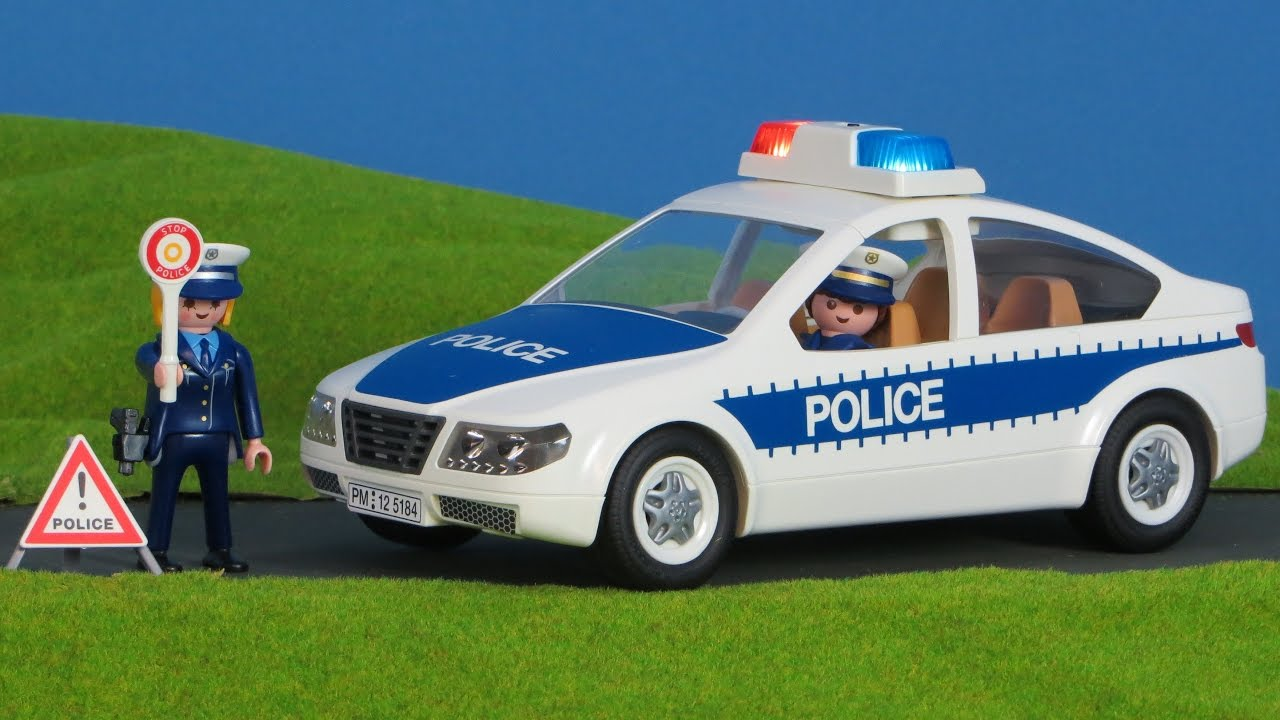 playmobil polizei deutsch polizeiauto ausgepackt. Black Bedroom Furniture Sets. Home Design Ideas