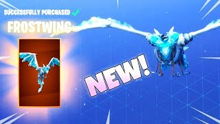 NEW! LEGENDARY DRAGON GLIDER! FROSTWING (Football skins are back Item Shop) Fortnite Battle Royale
