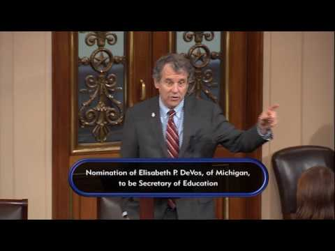 Sen. Brown Opposes Betsy DeVos