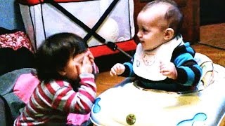 Cute Babies Playing and laughing