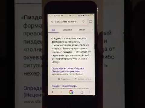 Окей, Google Что такое пиздос?