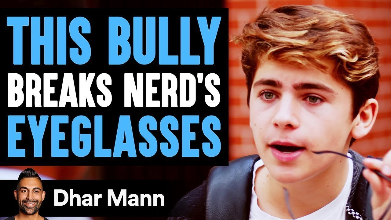 Download Bully Breaks This Nerd's Glasses, What Happens Next Will Shock You | Dhar Mann