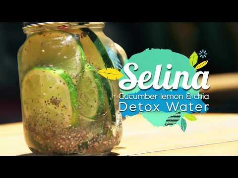 Cucumber, lemon & Chia Detox Water