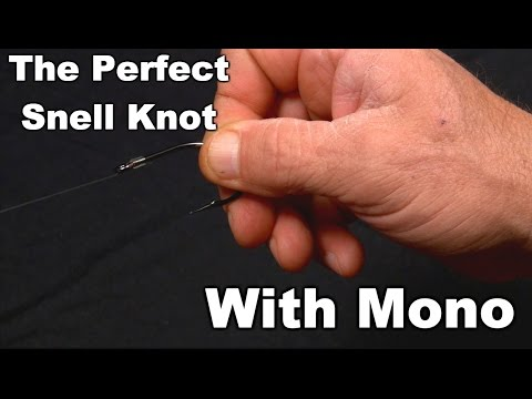 How To Tie A Snell Fishing Knot, Close Ups Using Mono   Saltwater Experience