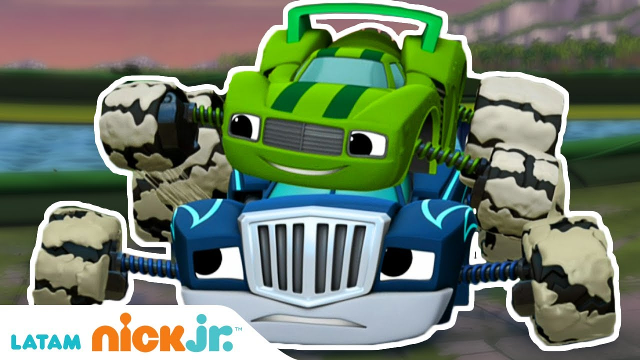 Blaze and the Monster Machines | Lo mejor de Crusher y Pickle - parte 1 🤣 | Nick Jr.