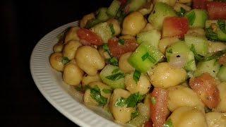 Salade méditerranéenne aux pois chiches / سلطة من البحر الأبيض المتوسط بالحمص