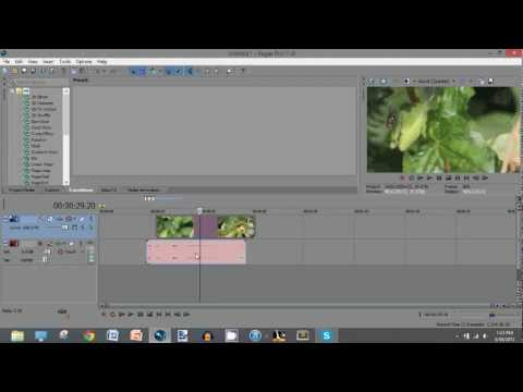 Sony Vegas Pro 11: How to Unlink Audio from Video