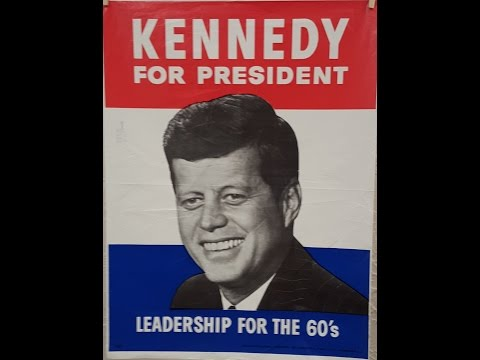ipi KENNEDY FOR PRESIDENT Campaign Poster 1960