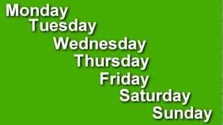 Learn The Days Of The Week In English -  Speak English, Learn English,