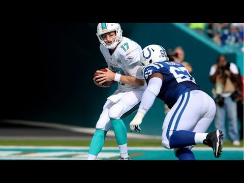 new product f03fc 8b28c T.Y. McGill Sacks Ryan Tannehill for a Safety || Colts at Dolphins 2015