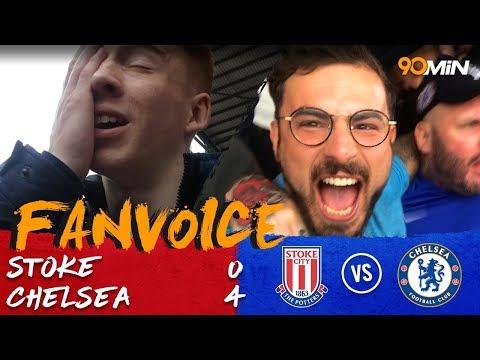 Morata hat-trick destroys Stoke City!   Stoke City 0-4 Chelsea   90min FanVoice