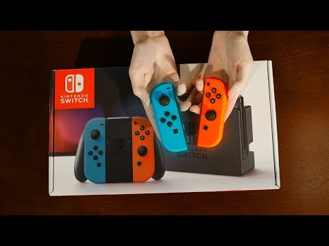 ASMR Relaxing Unboxing | Nintendo Switch