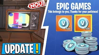 Nouveau - Mise à jour Fortnite TÉLÉVISIONS ARE ON, WE'RE GETTING V-BUCKS!!!