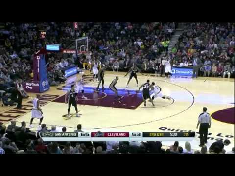 Boris Diaw 16 Points Full Highlights Spurs vs Cavaliers (3.4.2014)