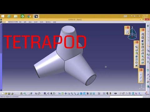 Catia V5 - Tetrapod | concrete block |
