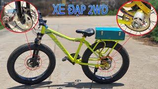 Chế Xe Đạp Điện 2WD - Xe Đạp Truyền Động 2 Bánh - Video 4K