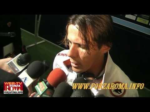 Rodrigo Taddei al termine di Lazio-Roma 1-2 del 18/04/2010
