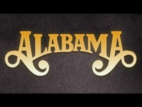 Alabama  Feels So Right Lyrics on screen