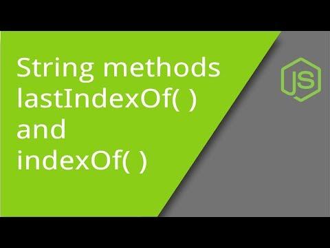 IndexOf And LastIndexOf String Methods