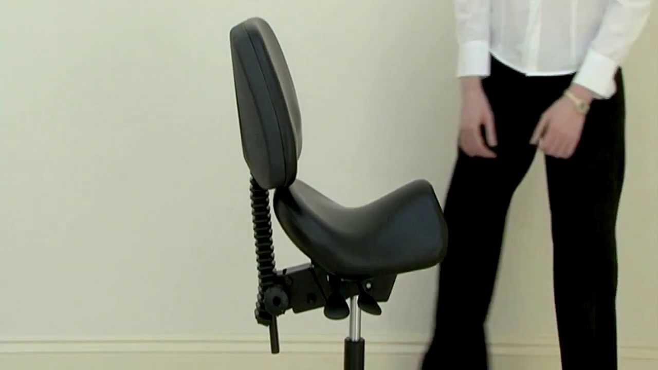 Adjusting A Bambach Saddle Seat Backrest Height And Tilt