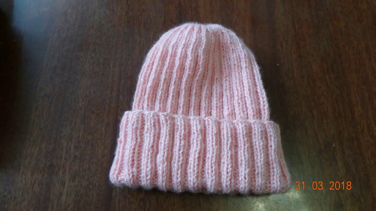 вяжем шапку спицами резинкой 22 Youtube
