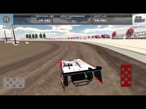 The brand new USA Raceway on the Dirt Trackin' app. 14.86 sec best lap!