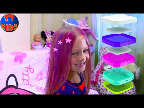 Учим Цвета вместе с Куклой Барби и Красим Волосы   Learn Colors with the Barbie Doll