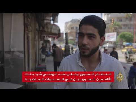 أعداد كبيرة من النازحين والمهجّرين قسرا بمدينة إدلب  - 01:22-2018 / 4 / 15