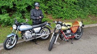 Moto Guzzi V50 original and Cafe Racer